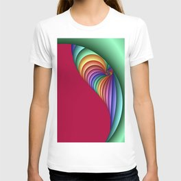 curtain time for fractals -3- T-shirt