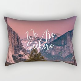 We Are Seekers Rectangular Pillow