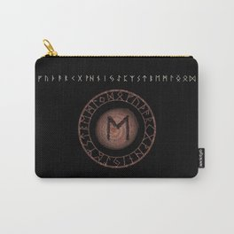 Eihwaz Elder Futhark Rune Strength, reliability, dependability, trustworthiness. Enlightenment Carry-All Pouch