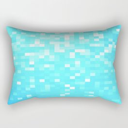 turquoise Pixel Sparkle Rectangular Pillow