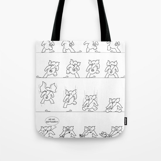 Elephant versus Mouse Tote Bag