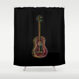 Color acoustic Shower Curtain