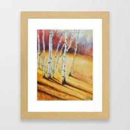 Fall Maple Trees Framed Art Print
