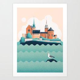 Oslo Akershus Castle Art Print