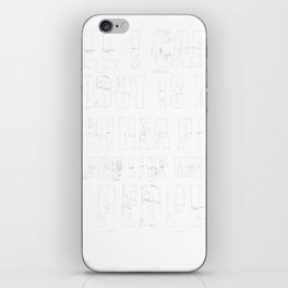 Guinea-Pig-tshirt,-all-i-care-about-is-my-Guinea-Pig iPhone Skin
