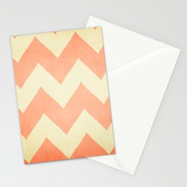 Fuzzy Navel - Peach Chevron Stationery Cards