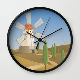 a quijote's glance Wall Clock