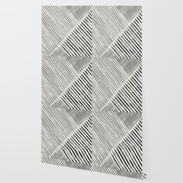 Black and White Stripes, Abstract Wallpaper