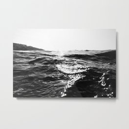 Fistral Sea Surface monochrome Metal Print