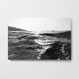 Fistral Sea Surface monochrome Metal Print