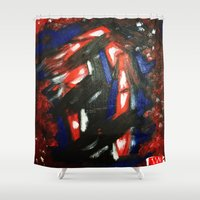 rave Shower Curtains featuring Rave by Myles Hunt