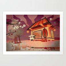 Imaginery Asian landscape Art Print