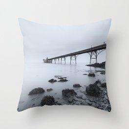 1046257 Clevedon Pier Throw Pillow