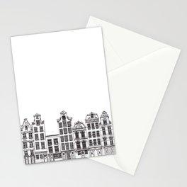 Amsterdam facades illustration Stationery Cards