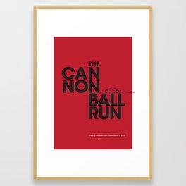 The Cannonball Run - Ferrari 308 GTS Framed Art Print