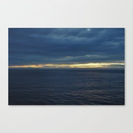 Stunning sunset over the ocean Canvas Print