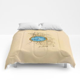 Jin's Compass (Rebel of the Sands) Comforters