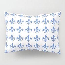 French Blue fleur di li Pillow Sham