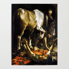 Caravaggio Conversion on the Way to Damascus Poster