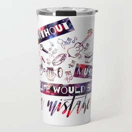Fun Design with Musical Instruments Travel Mug