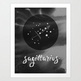 Sagittarius Zodiac Watercolor Art Print