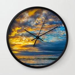 Painted Sky at Sunset, Laguna Beach Wall Clock