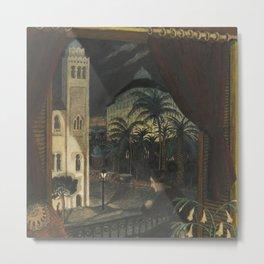 Algiers, Mediterranean Casbah Street Scene by Nikolai Astrup Metal Print