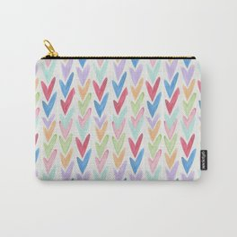 Modern hand painted colorful watercolor abstract chevron Carry-All Pouch