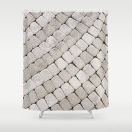 Pattern stone pavement Shower Curtain