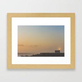 Point Cabrillo Light at Sunset Framed Art Print