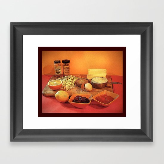 Baking Cookies Framed Art Print