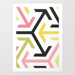 Arrow in pastel Art Print