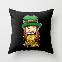 Leprechaun Vomits Coins - Irish Wealth Throw Pillow