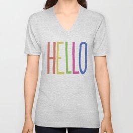 Hello! Unisex V-Neck