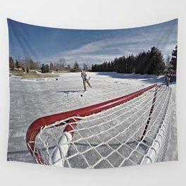 Pond Hockey Wall Tapestry