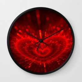 Cupid's Arrows | Valentines Day | Love Red Black Heart Texture Pattern Wall Clock
