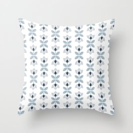 SCANDI grey-blue 07 Throw Pillow