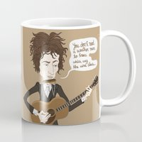 dylan Mugs featuring Dylan by AnaMF