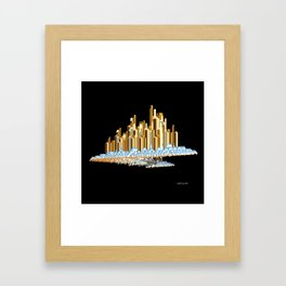 City In The Clouds Framed Art Print