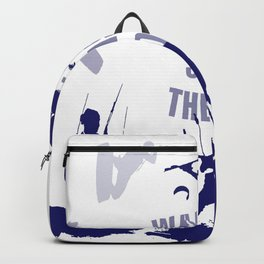 Wake Up Seas The Day Kiteboarder In Blue Shades Backpack