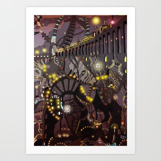 Steampunk Monday Art Print