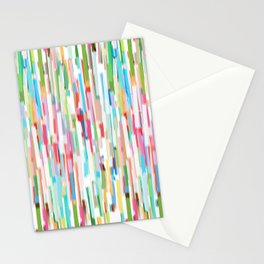 vertical brush strokes  Stationery Cards