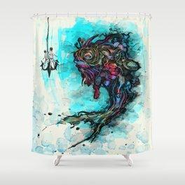 Fume Fish Shower Curtain