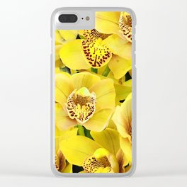 Bright and Beautiful Yellow Orchid Floral Bouquet Clear iPhone Case