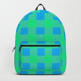 Blue and Green Buffalo Check Backpack