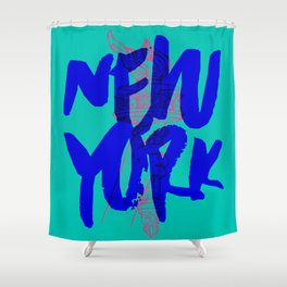 Place: New York Shower Curtain