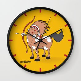 funny zodiac/sagittarius Wall Clock