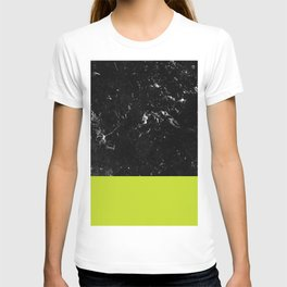 Lime Punch Meets Black Marble #1 #decor #art #society6 T-shirt