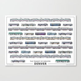 The Transit of Greater Denver Canvas Print