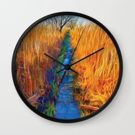 Wetland Boardwalk Wall Clock